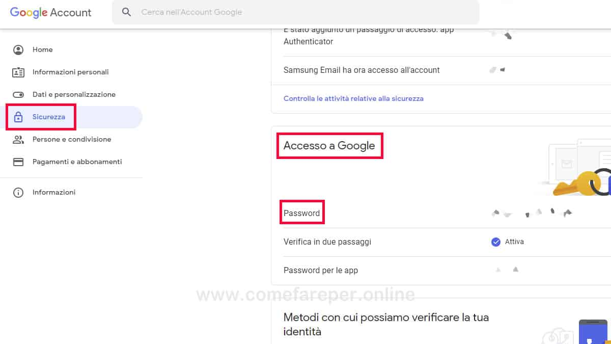 Come cambiare Password Canale Youtube